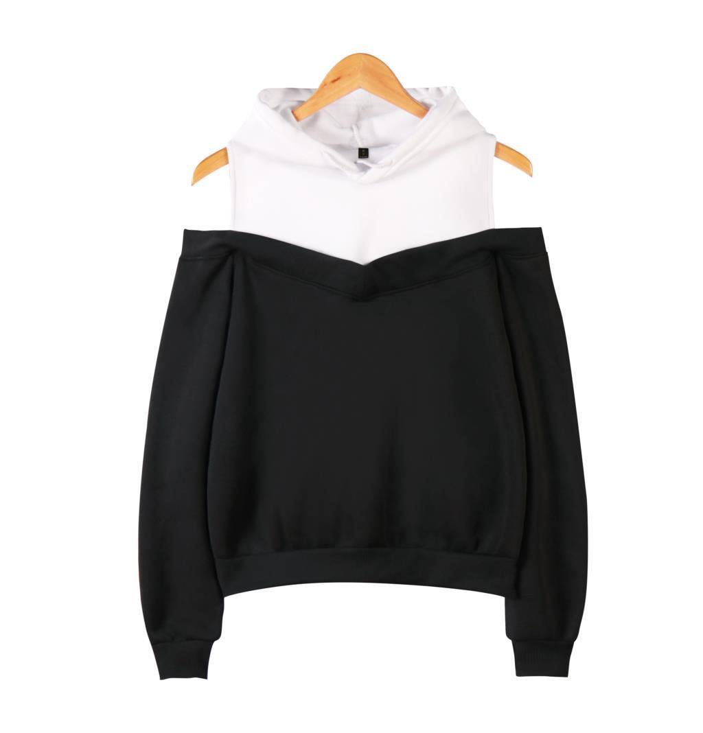 Hors Épaule Hoodies pour les Femmes De Mode À Manches Longues Sweats À Capuche 2019 Vente Chaude Casual Streetwear Vêtements