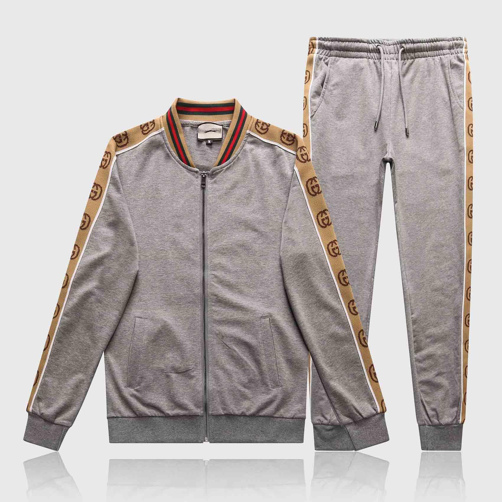 Men New fashion Tracksuits Sweat Suits Mens Tracksuits Jogger Suits Jacket + Pants Sets Sporting Suit Men Fashion Letter Print Set