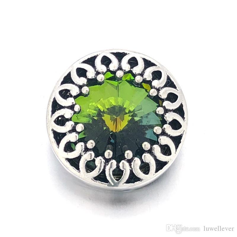 Luwellever w052 Flower 3D 18mm 25mm 30mm Metal Snap Button For Bracelet Necklace Interchangeable Jewelry Women Accessorie Findings