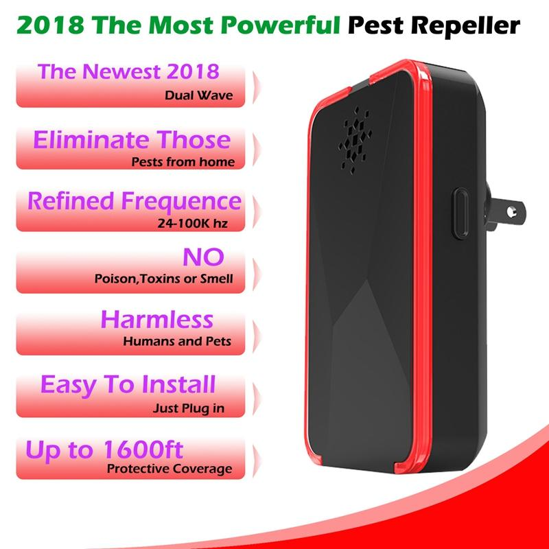 Household ultra-Mosquito Repelente Multi-Function Pest Repeller 24-100Khz No Radiation Para Repeller mouse Cockroach Ant M