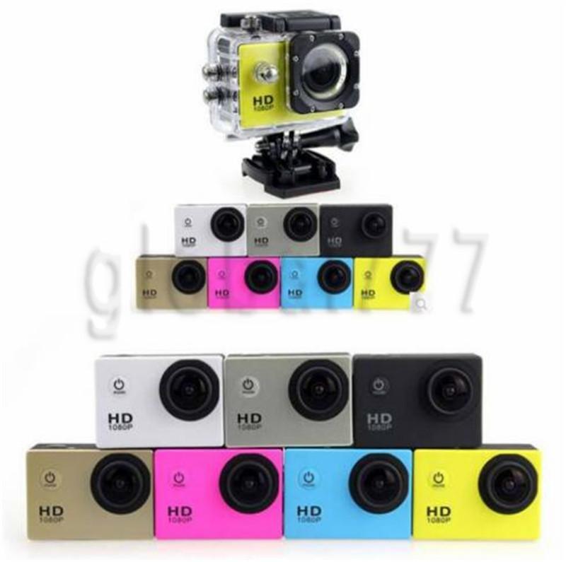 Wholesale SJ4000 Full HD Action Digital Sport Camera 2Inch Screen Waterproof 30M DV Recording Mini Sking Bicycle Photo Video