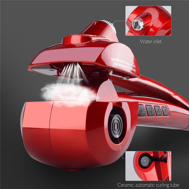 CkeyiN Professional Ceramic Automatic Hair Steam Spray Curler Fast Heating Hair Styling Tool Magic Hair Curling Iron Wand