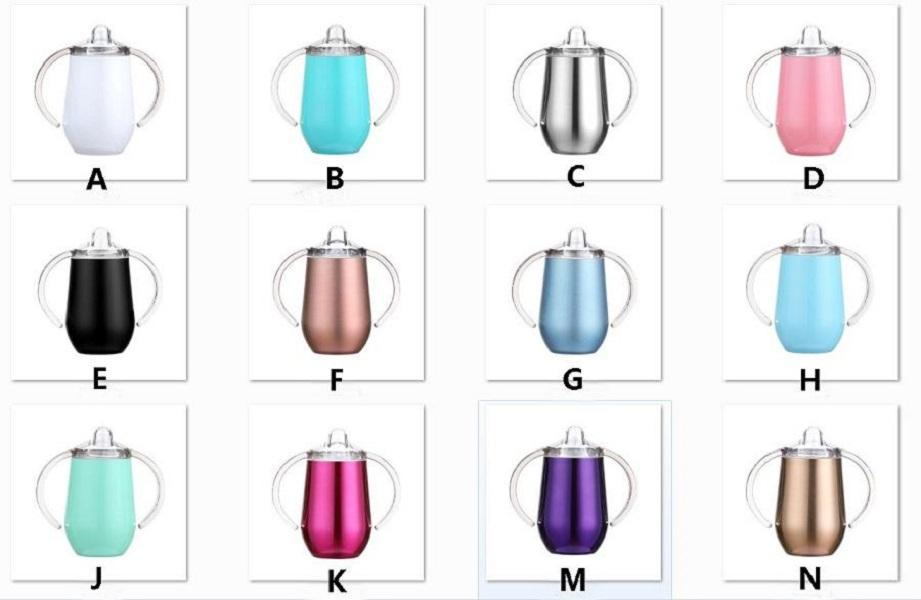 10oz Sippy Cup Spill proof baby Mugs Baby Pacifier bottles Egg Cups Tumbler free Safe Insulated Milk Thermos