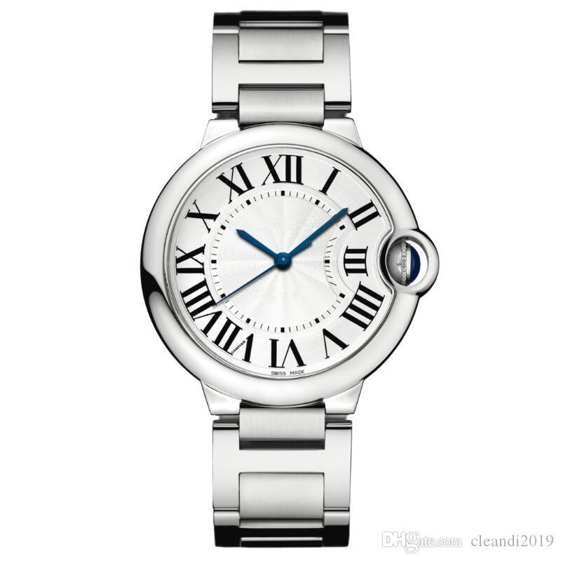 2019 Nice good new clock Luxury argento moda orologio uomo in acciaio inox donne orologi da polso unisex orologi orologio whosale dropshipping