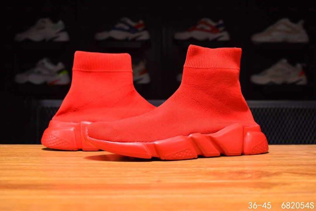 Designer Turnschuhe Speed Trainer Schwarzweiss-Multicolor-Triple-Mode schwarze flache Socke Stiefel lässig shoelace Verpackung rot xshfbcl