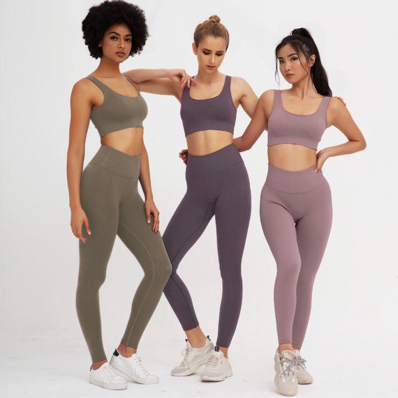 Нейлон Сексуальная быстросохнущая тренировочная одежда для женщин спортивный бюстгальтер и леггинсы набор спортивная одежда для женщин тренажерный зал одежда Спортивная йога набор