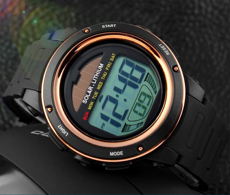 2020 Solar Power Sport Watch Men Electronic Masculino LED Watches Military Outdoor Student Relogio Women Wristwatch 1096