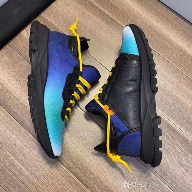 Neue Plattform Schuh Modedesigner Männer Frauen dad Schuhe Turnschuhe Leder Velvet schwarz weiß grau blau flacher Freizeitschuh Plattform Trainer O3