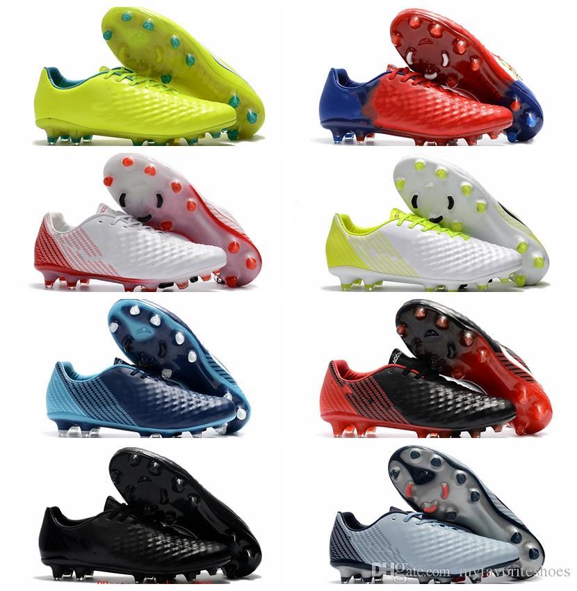 2018 original soccer cleats magista obra fg mens soccer shoes soft ground football boots cheap Magista Opus II FG cheap blackout Orange Red