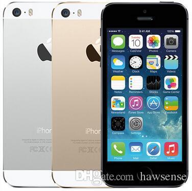 Refurbished Original Apple iPhone 5S With Fingerprint 4.0 inch 1GB RAM 16GB/32GB/64GB Dual Core IOS A7 8.0MP 4G LTE Cell Phone Free DHL 1pcs