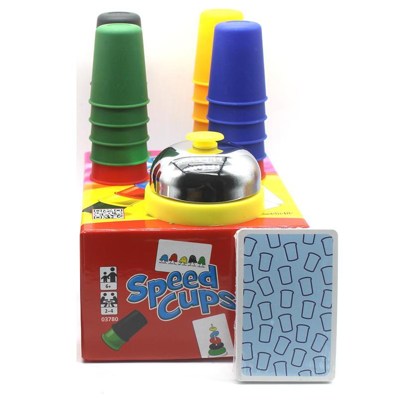 Klasik Kart Oyunları Hız Bardaklar, İngiliz Talimatları MX200414 ile Kartları Oyunu Aile Ve Çocuk Masa Oyunları Kapalı Oyunları