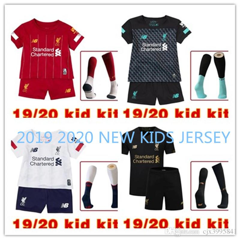 19//20 Home Away kids Youth Adult Football Kit Short Shirt Soccer Jersey+Socks.EH