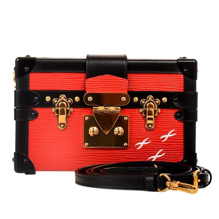 Wholesale-Top Quality Acrylic Ladies Clutch Evening Shoulder Bags Purses Red Clutches Chain Small Women Handbag Mini Doctor Bag