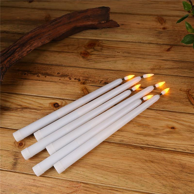 25 pieces 11 inch Flickering Yellow light Battery Powered Electronic Taper Candles,Flameless Long Led Candles For Dinner Wedding T191026
