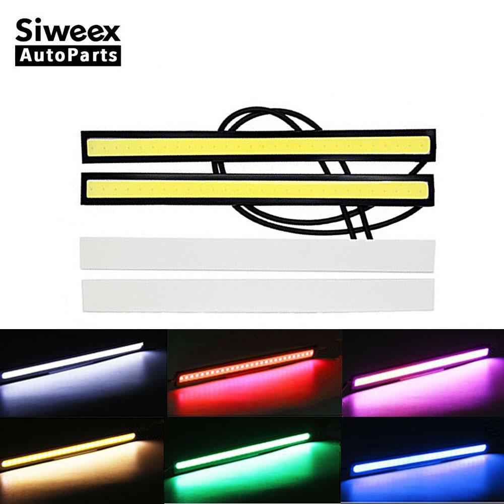 2 Pcs Car LED tiras luzes diurnas 17 cm DRL à prova d 'água para Auto caminhões ultra-fino condução lâmpada de nevoeiro Super Bright DC 12 V