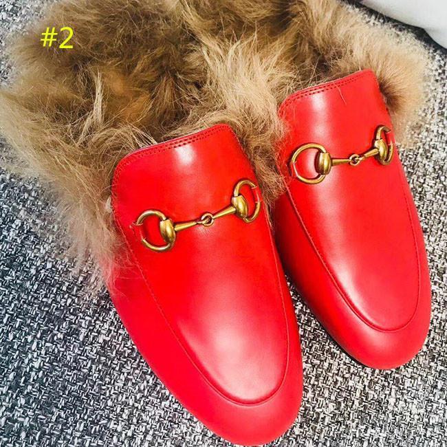 La moda y la calidad de diseño mocasines de cuero genuino zapatilla de piel Muller con las mujeres hebilla de la manera Princetown casual de las señoras de piel mulas Pisos