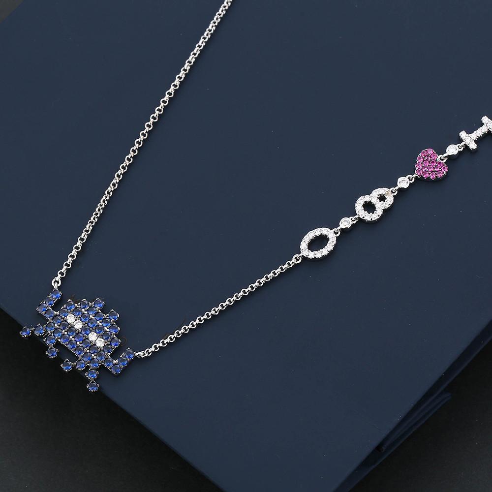 cadeaux de Noël collier élégant pour les femmes colliers de cristal bijoux avec pleine brillant Cubiz Zircon chaîne féminine