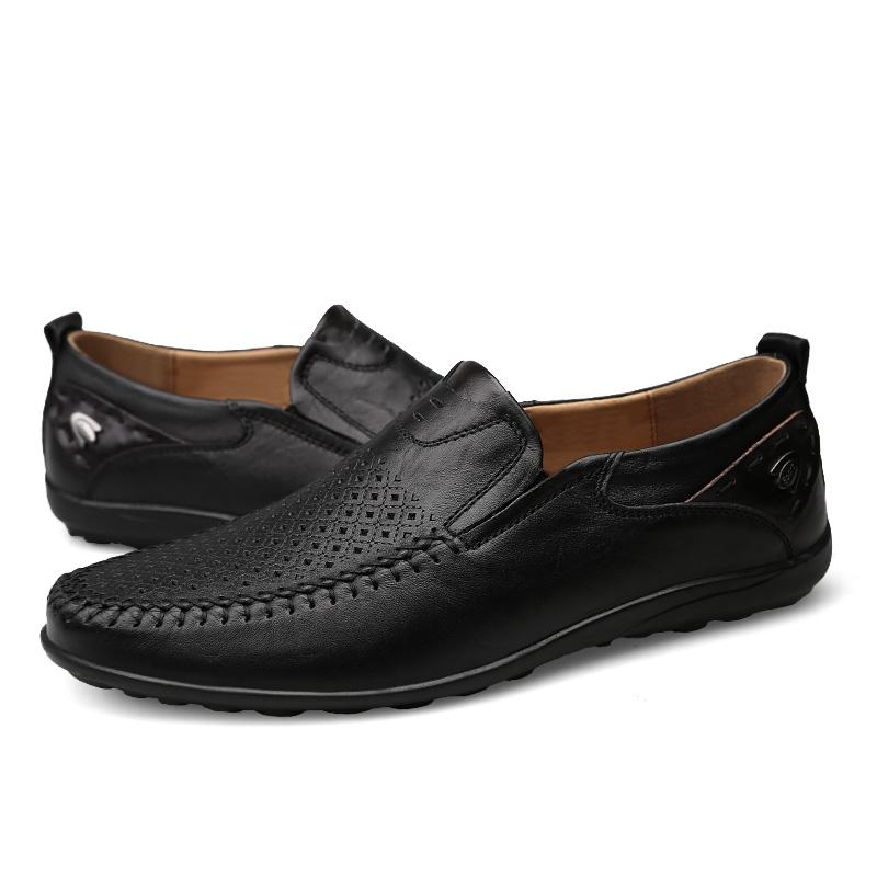 Italian Men Casual Shoes Summer Genuine
