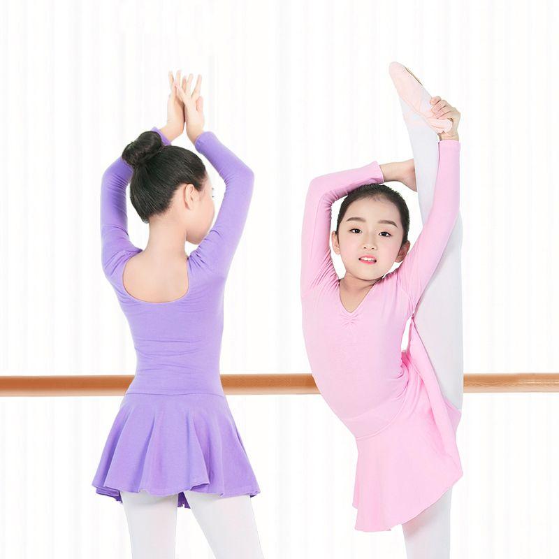 ازياء الأطفال الجمباز الباليه متجنب يوتار بنات القطن الأساسية الباليه الرقص يوتار الاطفال راقصة الباليه اللباس الرقص