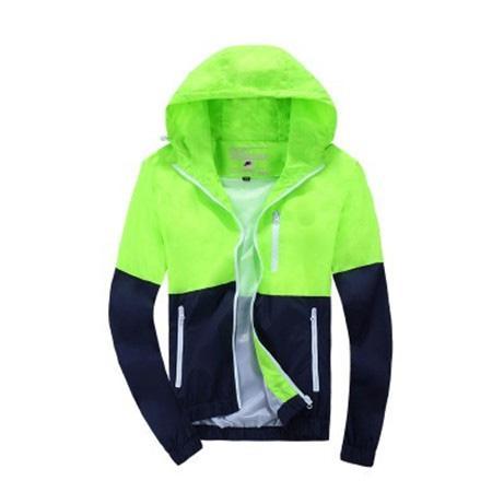 Марка высокого качества с длинными рукавами Новый дизайнер Мужская мода Сыпучие Ветровки и природные цвета для вскользь с Размер S-3XL B100137Q