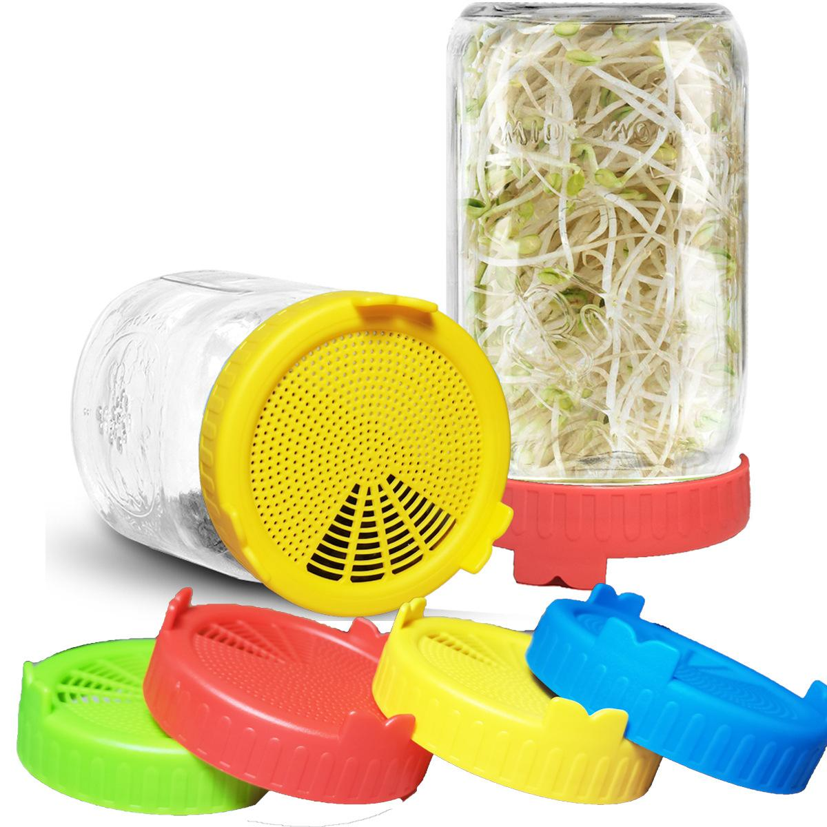 Sprouting Lid Food Grade Mesh Sprout Cover Kit Seed Growing Germination 4 or 2