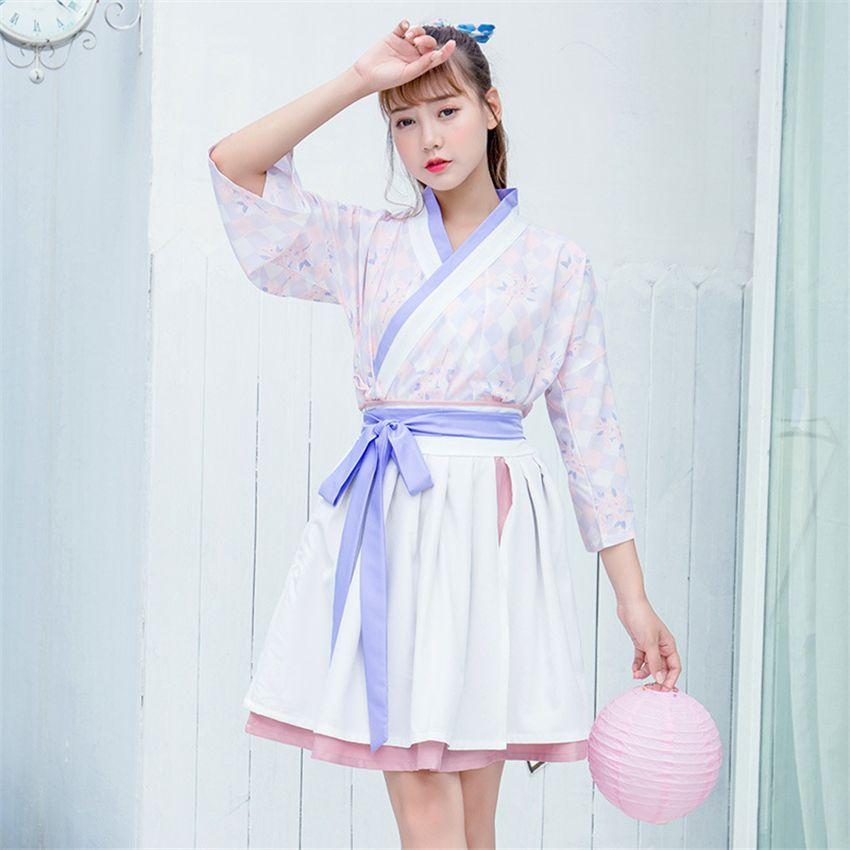 Недавно Мода Женщина Традиционный Китайский Hanfu Sweety Этап Танцевальный Костюм Женщины Лето Печати Наряды Фея Одежда Платья