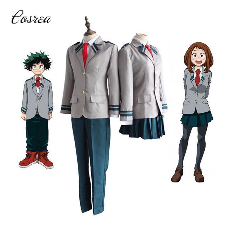 Anime My Hero Academia Cosplay Izuku Midoriya Wig Dabi My Hero Academia Cosplay Bakugou Katsuki Costumes Schoolgirl Uniforms Kid Halloween Costumes