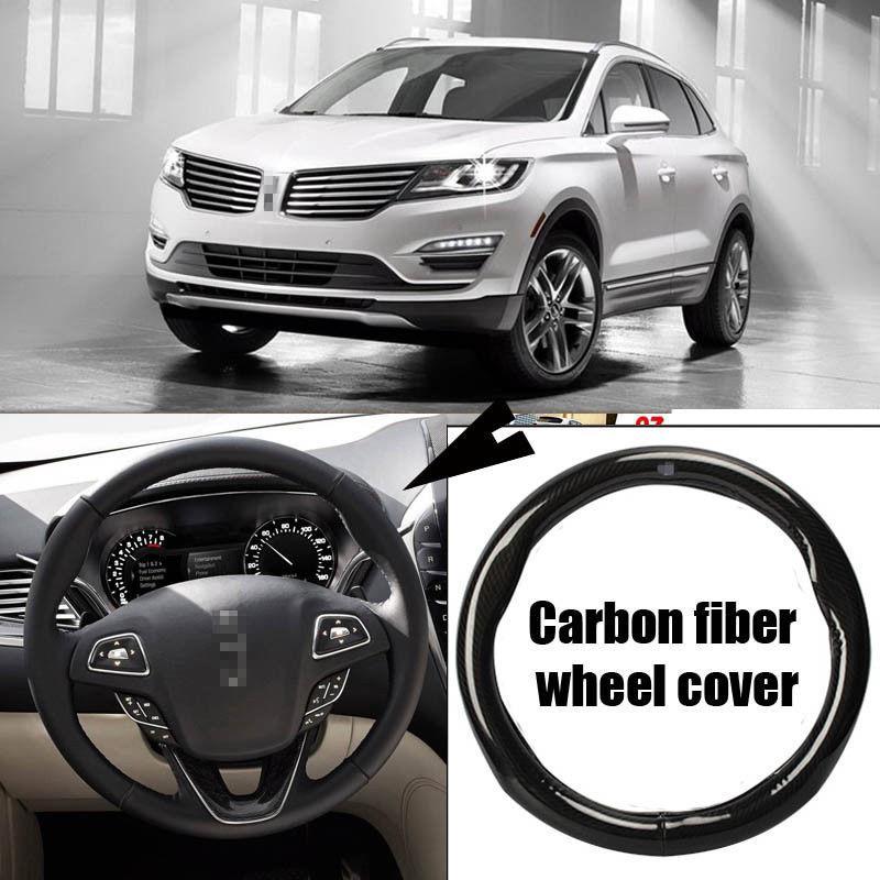 Для Lincoln MKC Автомобиль Углеродного Волокна Кожа Рулевого Колеса Спорт Гонки