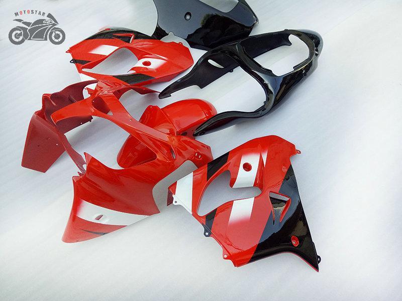 Personaliseer Keukenkits voor Kawasaki Ninja ZX9R 2000 2001 Rode Zwarte Backings Kits 00 01 ZX 9R ZX9R