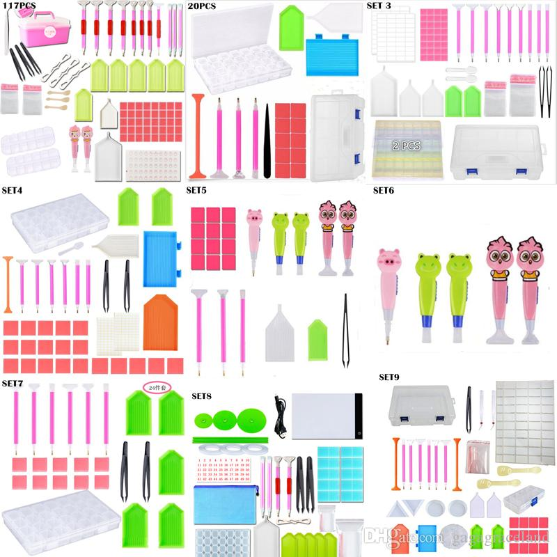 DIY Diamond Painting Accessories 5D Diamond Painting kits Cross Stitch Embroidery Pen Tools Set Mosaic Glue Pen Kit Tweezers