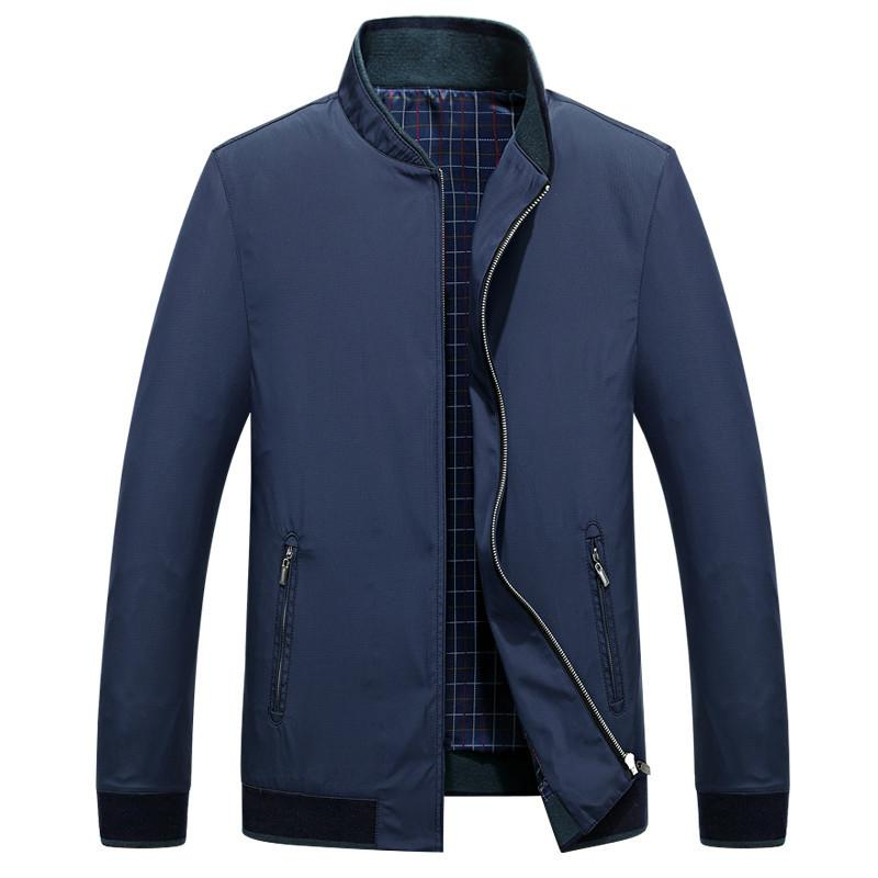 Turn-down Collar Solid color Male Slim Fit Overcoat Men Casual Windproof Long Sleeve Jacket Coat
