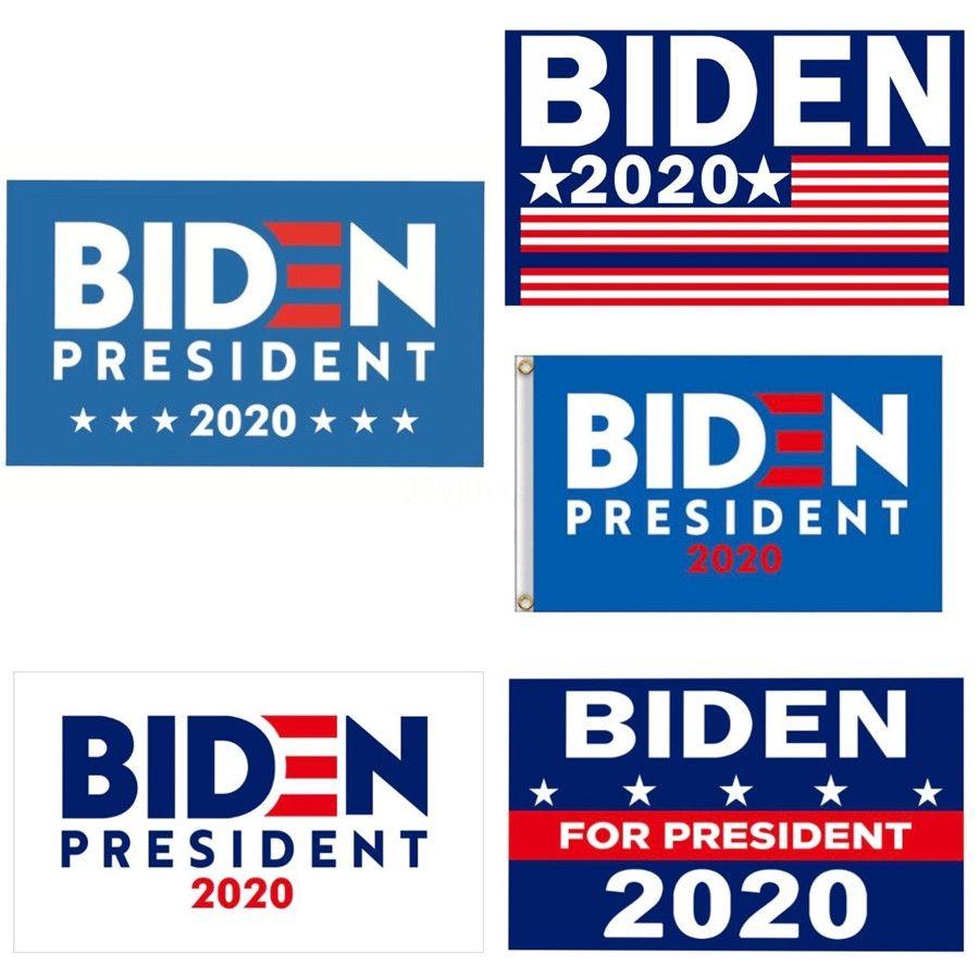 90 * 150cm 5 Cores Biden 2020 Bandeira duplos de Impresso Donald Flags Keep America Great Again poliéster Decor Bandeira No More Bullshirt Fla # 341