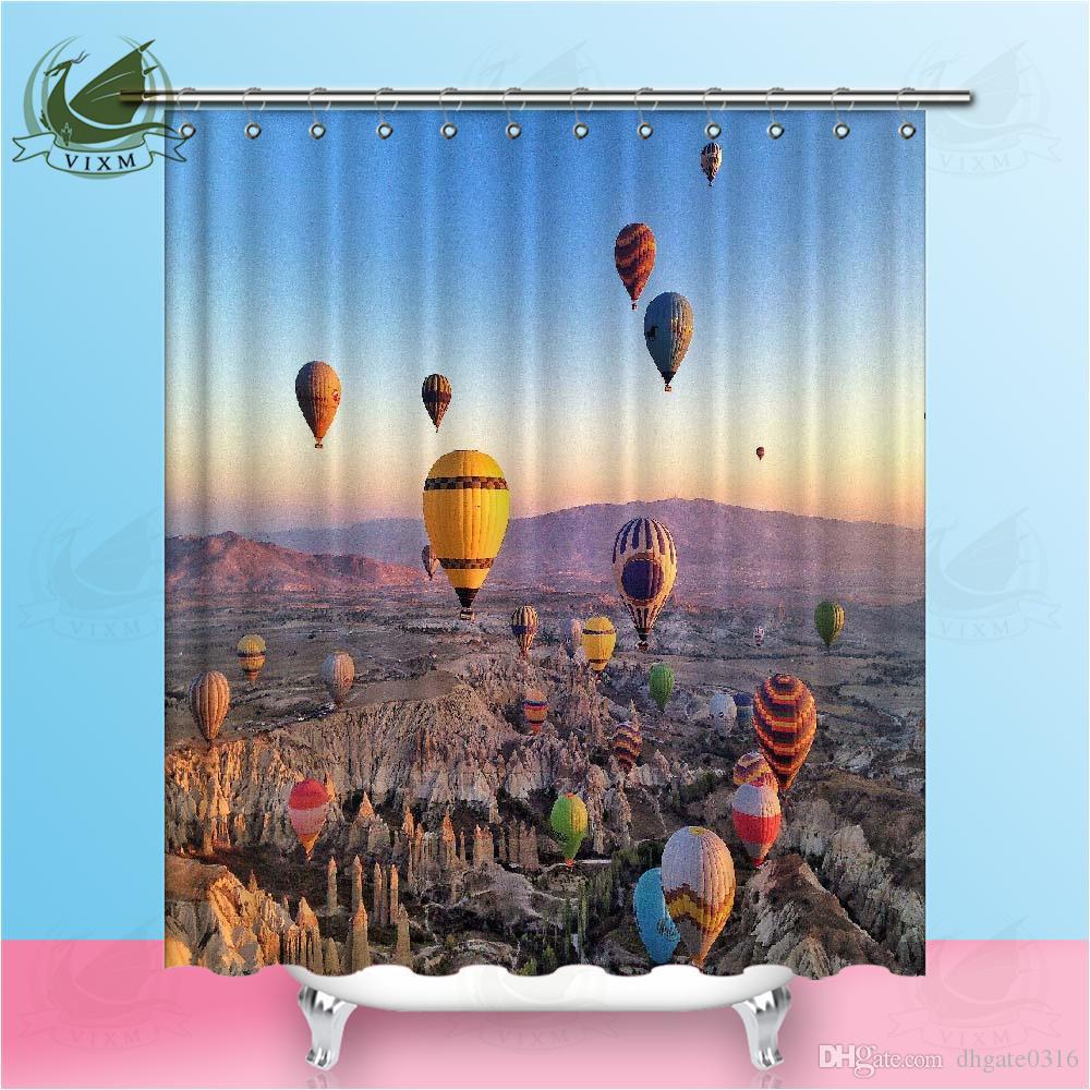 2021 Vixm European Scenery Romantic, Hot Air Balloon Bathroom Decor