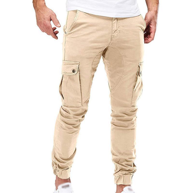 Pantalons Hommes Automne Hiver Casual pantalons cargo en vrac Slim Fit Zipper Combat Mode Bas Pantalons Armée Homme