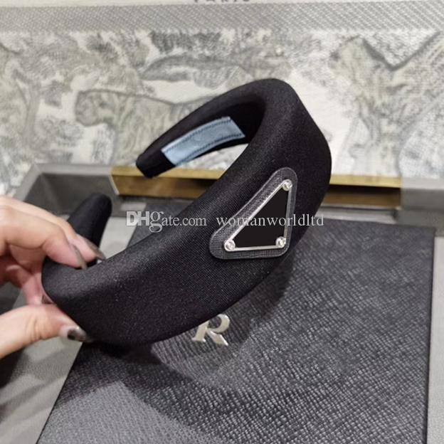 여자 브랜드 탄성 머리띠 최고 품질의 편지 디자인 헤어 밴드 머리 스카프를 들어 여성 여자 Headwraps 선물