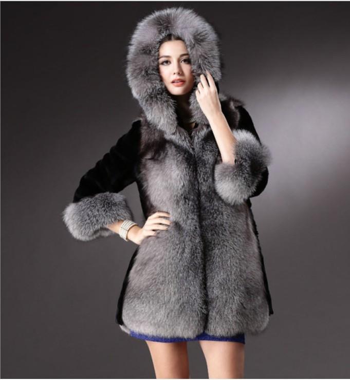 2019 Vetement зимнее женское пальто из искусственного меха пушистый пушистый тонкий Лолита толстый мех перевес с капюшоном искусственное пальто плюс размер AW254