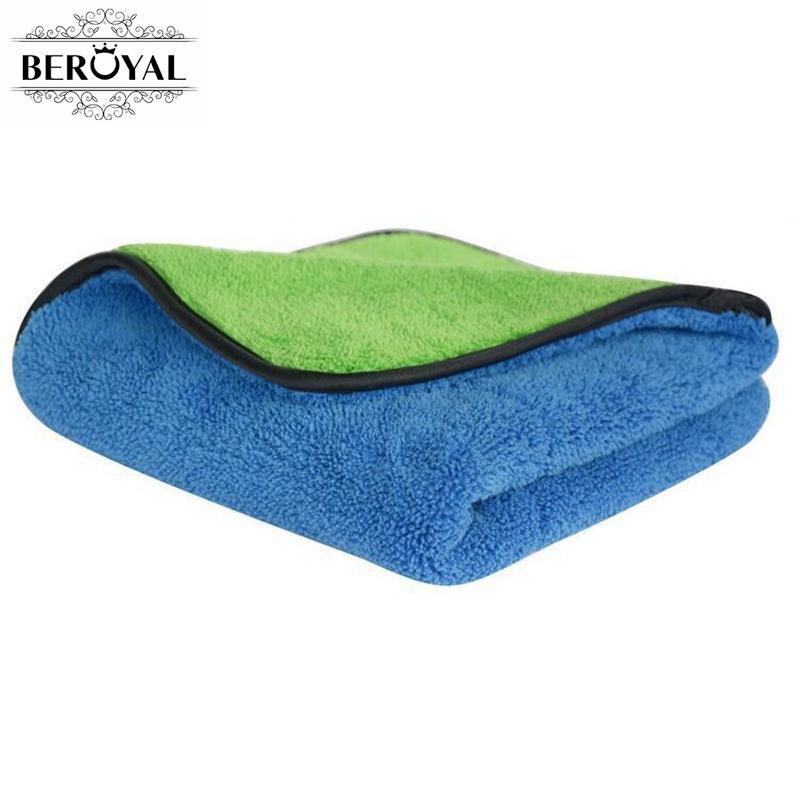 Beroyal marca 2018 toalla de cocina-1 unid Super gruesa felpa microfibra coche paños de limpieza absorbente plato paño pulido toallas