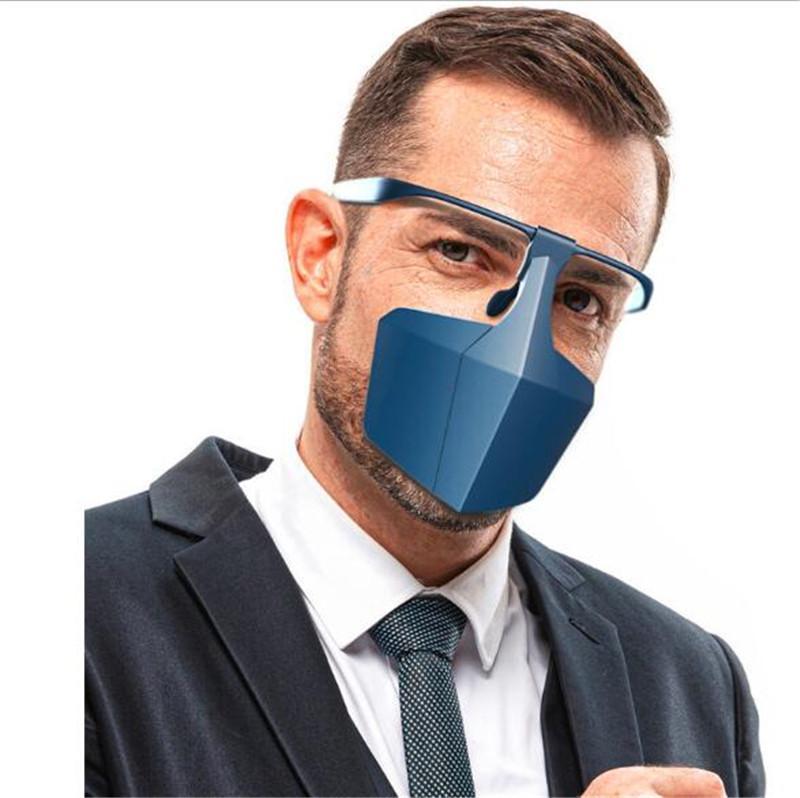 Новейший защитная маска маска Anti-туман Изоляция Полный Защитные маски мода оголовье HD Прозрачная защита ПЭТ Анти Всплеск пыли