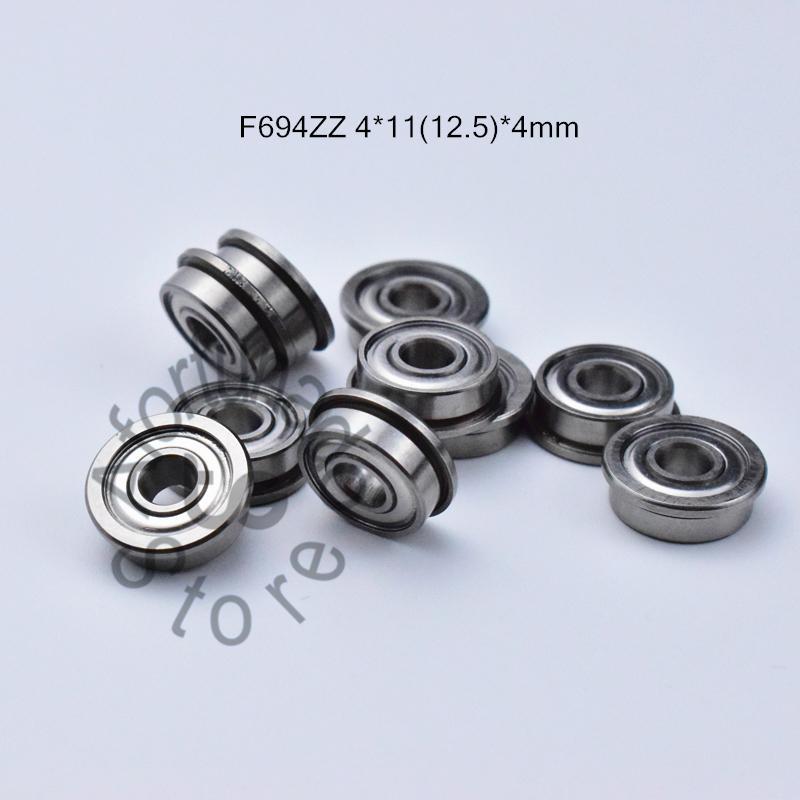 F694ZZ 플랜지 베어링 무료 배송 694 F694Z의 F694ZZ 4 * 1112.5 * 4 MM 크롬 강철 깊은 홈 베어링