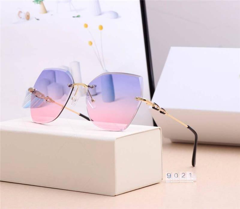 وصول جديد مصمم النظارات الشمسية الصيف الرجال النساء نظارات شمسية UV400 9021 خمسة ألوان الاختياري جودة عالية مع Boxs