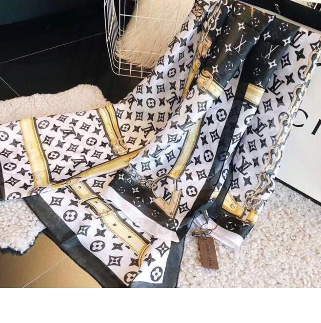 Designer de alta qualidade designer de Primavera Verão 1005 de seda lenço da forma suave marca fina chiffon xaile das mulheres cachecol impressa s decorativos