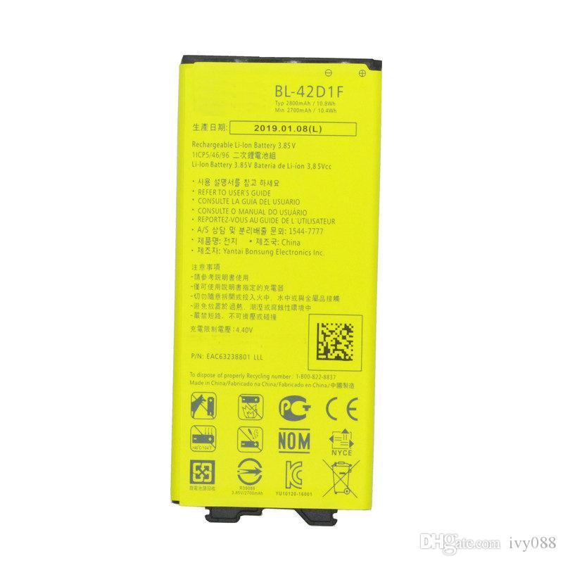 1x 2800mAh BL-42D1F Batería de repuesto para LG G5 VS987 US992 H820 H840 H850 H830 H831 H868 F700S F700K H960 H860N LS992 RS988