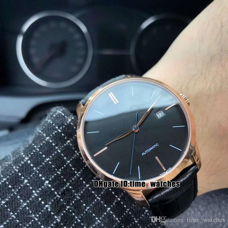 8 стилей 40мм 1966 49525-52-232-BKCA 8215 Движение Автоматическая Мужские часы черный циферблат черный кожаный ремешок Серебряный случай мужские популярные новые часы