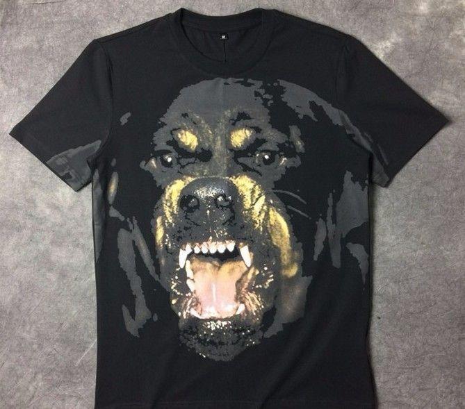 2018 nueva llegada de la moda Rottweiler camiseta con estampado de perro camiseta de manga corta de algodón para hombres mujeres Y19072201