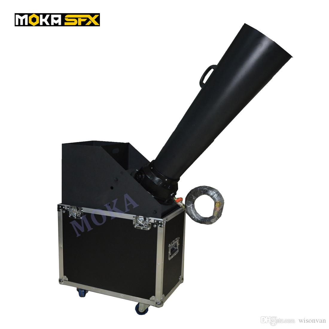Flight Case Packing CO2 Confetti Cannon Machine Confetti Blaster Hand Control For Party Club Stage Aluminium Cast co2 gas cannon