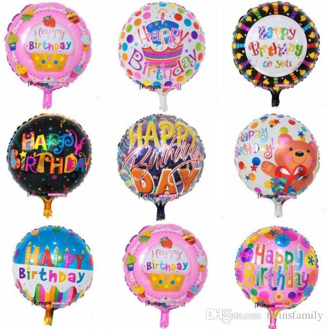 Inflatable birthday party Balloons decorations bubble Aluminum film balloon kids happy birthday Party balloons toys supplies 18 Inch DYP980