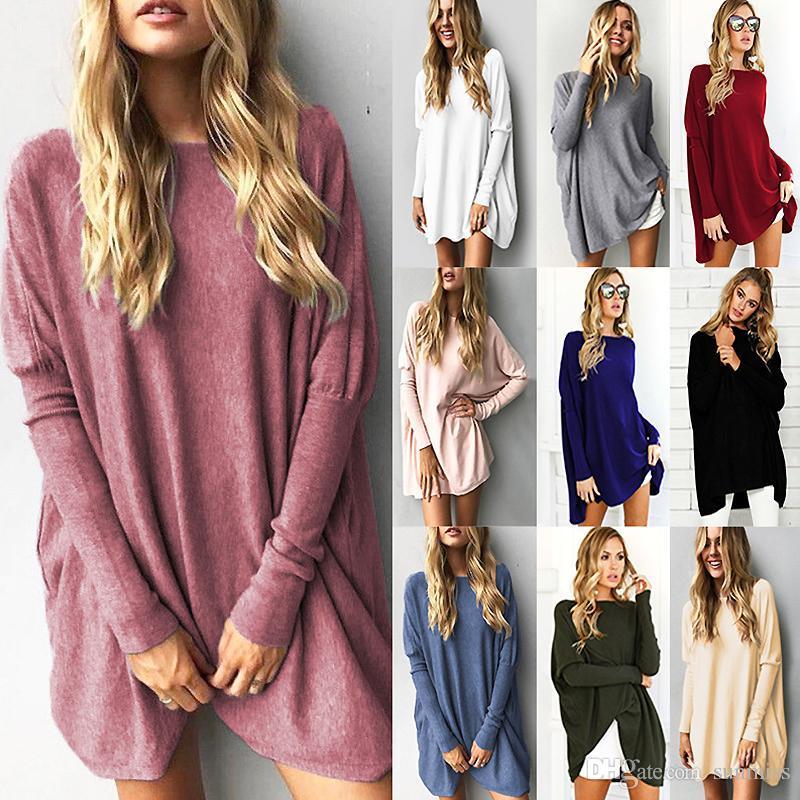 Pullover Tops Frauen 2018 Herbst Winter Langarm Plus Größe Pullover Elegante Frauen Lose Weibliche Pullover Kleidung