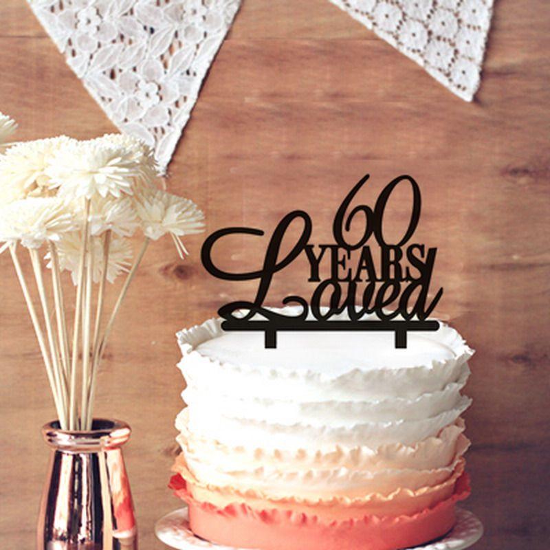 Phenomenal 2020 6Oth Birthday Cake Topper 60 Years Loved Cake Topper 60Th Birthday Cards Printable Opercafe Filternl