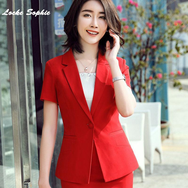 1pcs Women's Plus size Blazers coats 2020 Summer Cotton blend Splicing Short sleeve Small jackets ladies Skinny Blazers Suits
