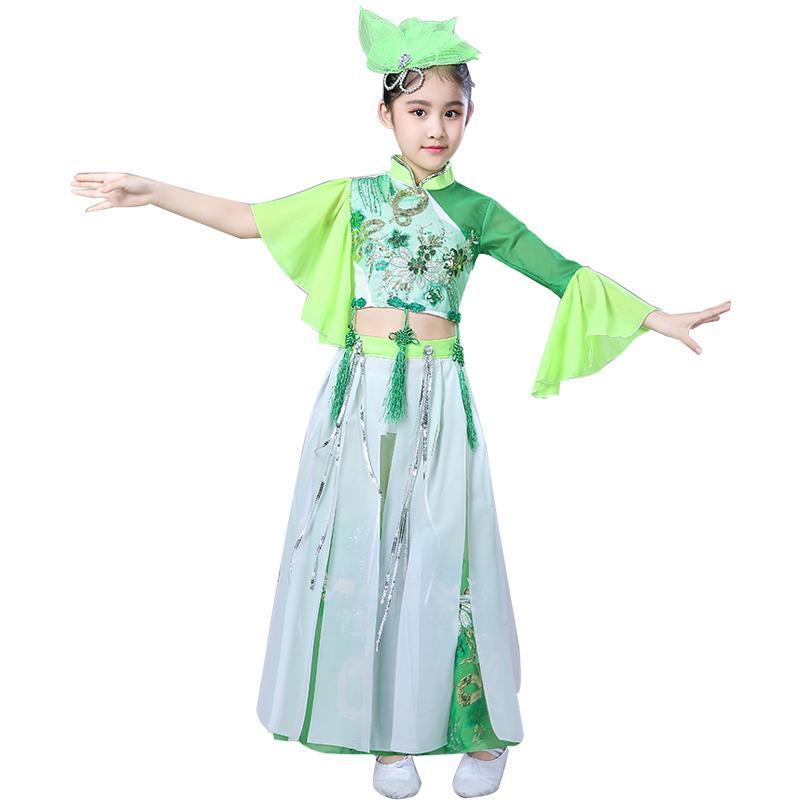 Trajes de dança clássica chinesa Dança do traje New infantil tradicional meninas trajes de desempenho antigos